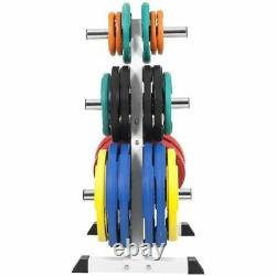 Gorilla Sports Olympic Weight Plate Rack 4 Branches