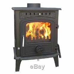 Greetwell 12KW WoodBurner NEW Cast Iron Log Burner Multifuel Wood Burning Stove