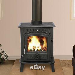 Greetwell Multifuel Log Burning Cast Iron WoodBurner Woodburning Stove Fireplace