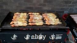 Griddle BBQ with Side Tables & Stainless Steel Top, Folds Flat Tasty Trotter