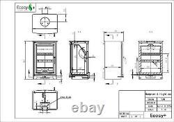 Hampton HighLine 5kw Eco Design Ready Defra Approved Woodburning Stove