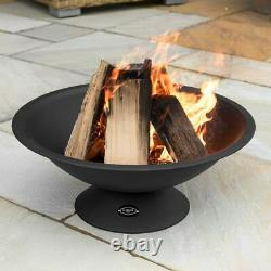 Harrier Outdoor Fire Pits 22in LARGE GARDEN FIRE PIT BOWL Durable Steel