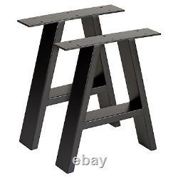 Hartleys Set of 2 Industrial Metal A Frame Table Legs Dining/Bench/Office/Desk