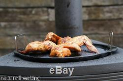 Hellfire Barbeque BBQ Outdoor Cast Iron Stove Chiminea Patio Heater Pizza Oven