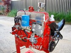 Holden 138 grey motor cast iron twin headers old holden fj fc ek fe fb ej gray