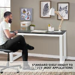 Home Office Computer Desk Corner PC Laptop Table Study Gaming Workstation Metal
