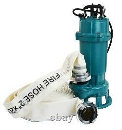 IBO FURY1.1kW Submersible Sewage Dirty Water Septic Sump Pump +grinder +30m hose
