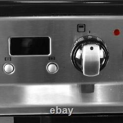 IQ 60cm Double Oven Dual Fuel Cooker Stainless Steel