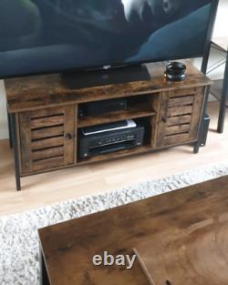 Industrial Style TV Stand Vintage Media Cabinet Rustic Metal Unit Retro Storage