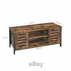 Industrial Style TV Unit Stand Vintage Storage Media Cabinet Rustic Sideboard