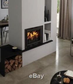 Inset Stove Fire Wood Log Burner Plasma Cassette Style Built In Modern New Model