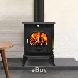 JA014 6.5KW Cast Iron Log Burner Modern MultiFuel Wood Burning Stove WoodBurner
