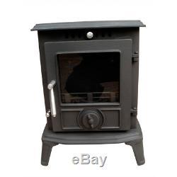 JA060 5.5KW MultiFuel Clean Burn Cast Iron Fireplace Log WoodBurner Stove