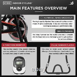 JLL IC300 Indoor Cycling Exercise Bike, Fitness, Cardio, Studio, Workout Bike
