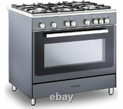 KENWOOD CK307G SL 90 cm Gas Range Cooker Grey & Chrome Currys