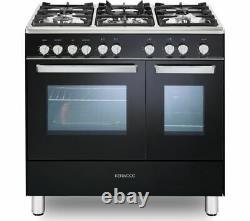 KENWOOD CK407G 90 cm Gas Range Cooker Black & Chrome Currys