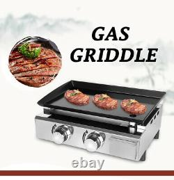 LPG Gas Plancha Hot Plate BBQ Griddle Barbecue Grill Enameled Cast Plate 52x34cm