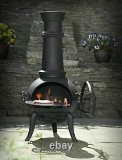 Large Cast Iron Chimenea Etinas Hacienda Log Burner Patio Heater Tall Chiminea