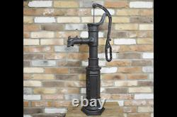 Large Cast Iron Fully Working Hand Water Pump Water Feature Garden Ornament 4960