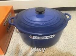 Le Creuset 7.25 qt Classic French (Dutch) Oven in Cobalt Blue New In Box 7 1/4