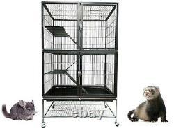 Liberta 2 Storey Antique Metal Small Animal Ferret Chinchilla Cage On Wheels