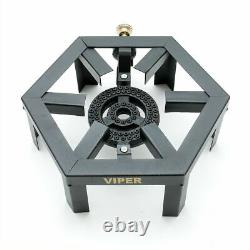 Lpg Gas Burner Cooker Cast Iron Boiling Ring Camping Catering Heavy Hex