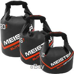 MEISTER 50LB ELITE SANDBAG With 3 KETTLEBELLS Weighted Lifting Crossfit Fitness