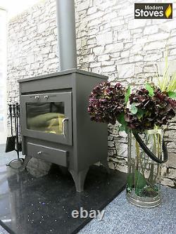 Modena 20kw back boiler Wood Burning Multi fuel, Wood Burner Modern Stoves