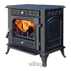 Modern 13KW MultiFuel Wood Burning Stove WoodBurner Cast Iron Log Burner