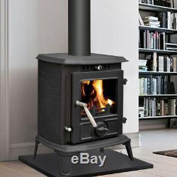 Multi-Fuel Cast Iron Wood Burning Stove Clean Burn Log Burner Fireplace 5.5KW