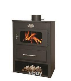Multi Fuel Log Burner 7.2kW Wood Burner Stove Fireplace Woodburner