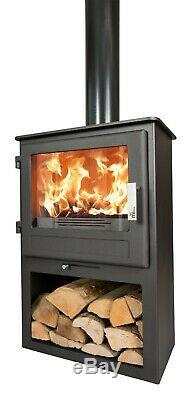 Multifuel Stove Woodburning Scafell Log Box Fire Modern Wood burner 8kW