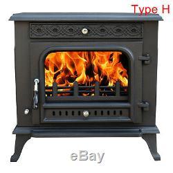 Multifuel Woodburner Stove Wood Burning Log Burner Modern Fire Fireplace New