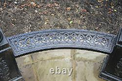 NEW EXTRA LARGE CAST IRON GAZEBO ORNAMENTAL GARDEN TEMPLE 3m WIDE 4m TALL