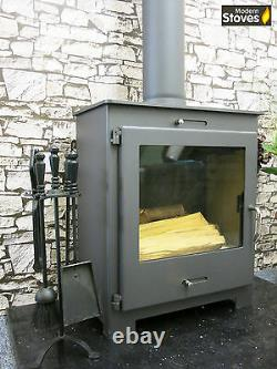 Nero Lux BO Wood Burning Multi Stove + Back Boiler 16kw for unvented hot water
