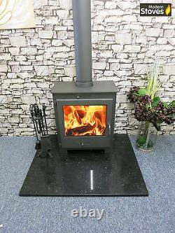 Nero Lux Back Boiler 15kw Wood Burning Multifuel, Wood Burner Modern Stoves