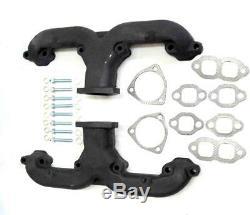 New Ram Horn Cast Iron Small Block Chevy Headers V8 Nova Corvette In Stock