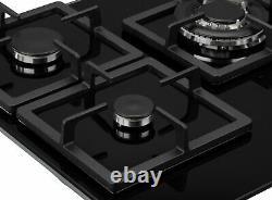 New World NWLEG75 75cm 5 Burner Cast Iron Support Gas Hob Black