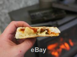 OFFER Cast Iron Baked Potato Pod Oven & Panini Cooker Bacon Press for Stoves
