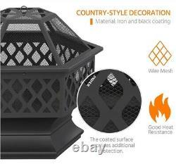 Outdoor Fire Pit Bowl for Backyard/ Garden Patio Heater for BBQ/ Camping Bonfire