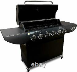 PRO Gas BBQ 6+1 Barbecue Grill with Side Burner Garden Outdoor