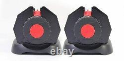 Pair of 24kg adjustable dumbbells (48kg in total)