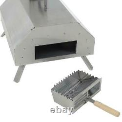 Pizza Oven Portable Garden Outdoor Steel Folding Legs Wood Fired 13 Stone