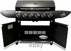 Professional Gas BBQ 6+1 Barbecue Grill with Side Burner Garden Outdoor