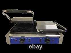 Quantum CE Clamp Grill Double Sided Panini Press Twin Contact Catering TCGR