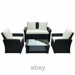 Rattan Garden Furniture Conservatory Sofa Set 4 Seat Table Chair Armchair Patio