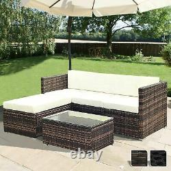 Rattan Garden Furniture Corner Sofa Set Lounger Table Patio Outdoor Conservatory