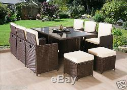 Rattan Garden Furniture Cube Set Chairs Sofa Table Outdoor Patio