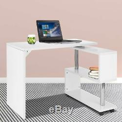 S-Shaped Corner Computer Desk Compact Table Home Office Study Corner Desk