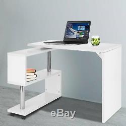 S-Shaped Corner Table Compact Laptop HomeOffice Study Computer Corner Desk